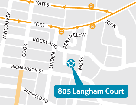 Langham Court Theatre Map - 805 Langham Court