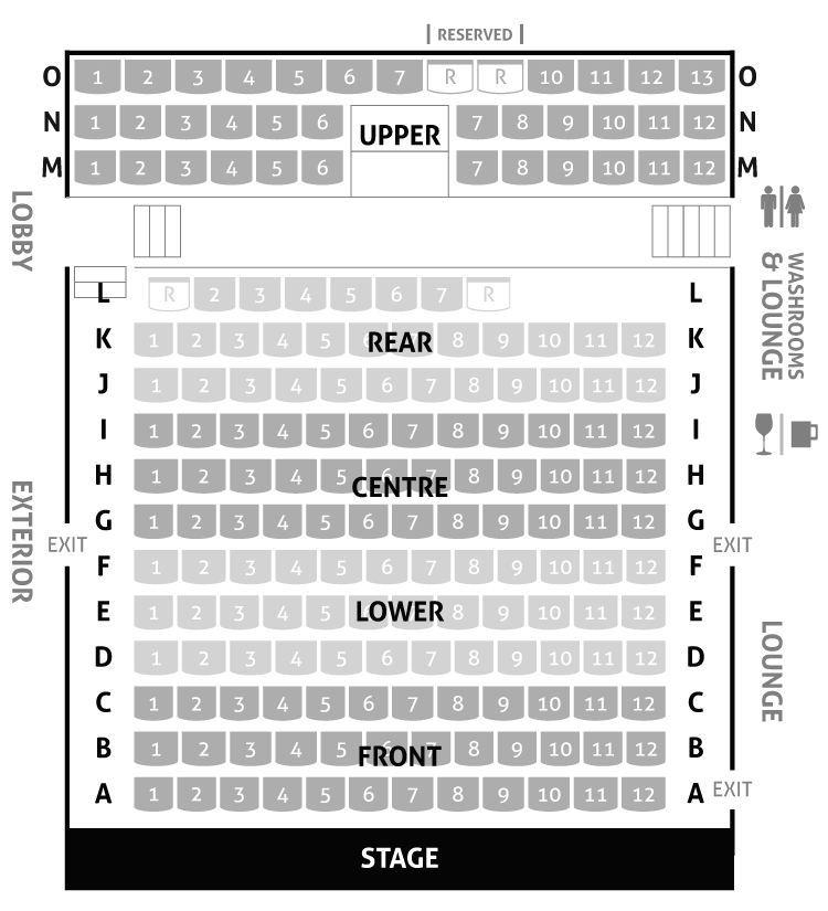 Langham Court Theatre Seating Map