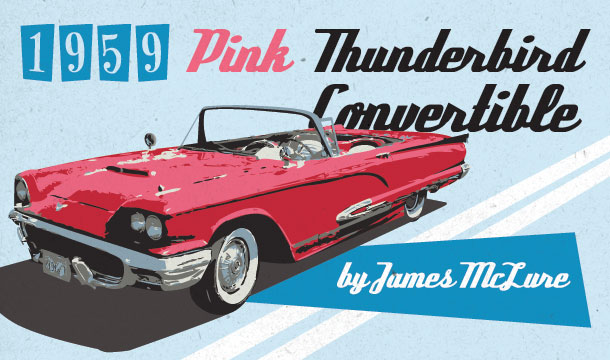 1959 Pink Thunderbird Convertible (Feature)